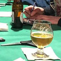 Drink on a table at Drink and Draw in Baton Rouge